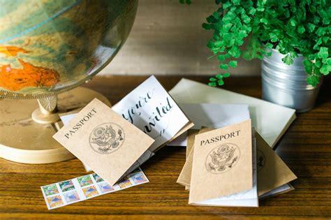 passport style invitation  tips  easy