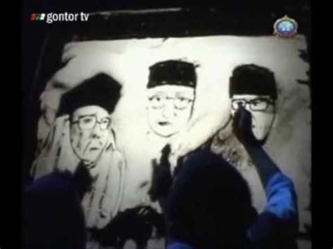 Wajah Pendiri Pondok Gontor Dalam Lukisan Pasir Sand Art
