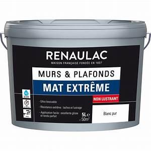 peinture murs et plafonds renaulac mat extreme With peinture murs et plafonds