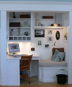 Turn your closet into a home office quiet corner for Turn closet home office