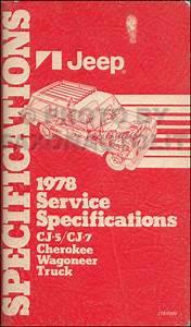 1978 Jeep Repair Shop Manual Original