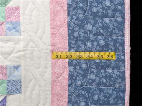 Pastel Patchwork Tulips Crib Quilt Photo 6