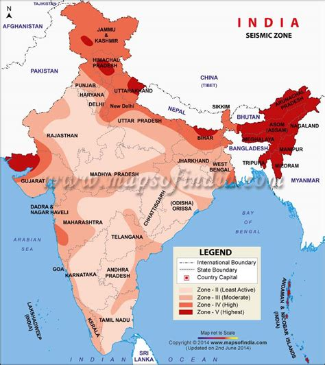 Seismic Zoning Map Of India