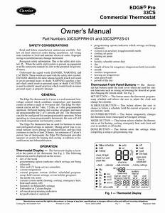 Carrier Thermostat 33cs User Guide