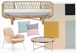 variations deco autour d39une banquette en rotin joli place With tapis kilim avec canape en rotin maison du monde
