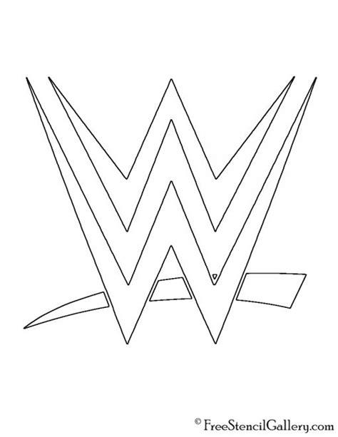 wwe logo stencil  stencil gallery