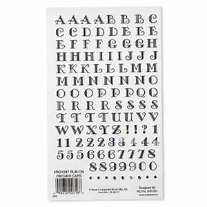 rub on transfers plastic black and clear 9 x 5 1 2 inch With white stick on letters and numbers