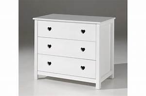 Commode 3 Tiroirs : commode 3 tiroirs blanc laqu sarah cbc meubles ~ Teatrodelosmanantiales.com Idées de Décoration