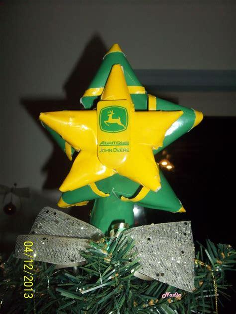 john deere tree topper star bows 100 duct tape made by me john deere pinterest