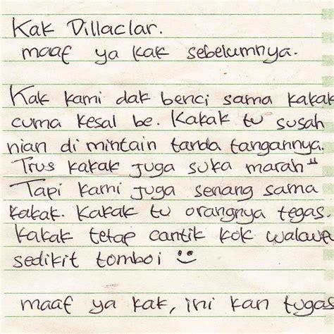 contoh surat cinta pendek untuk kakak osis dari anak mos