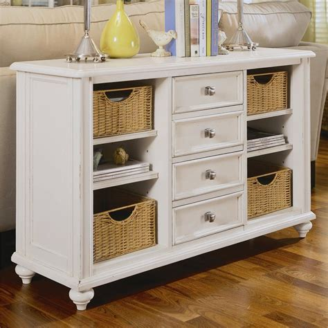 console table with baskets and drawers console table with 4 drawers and 4 baskets by american