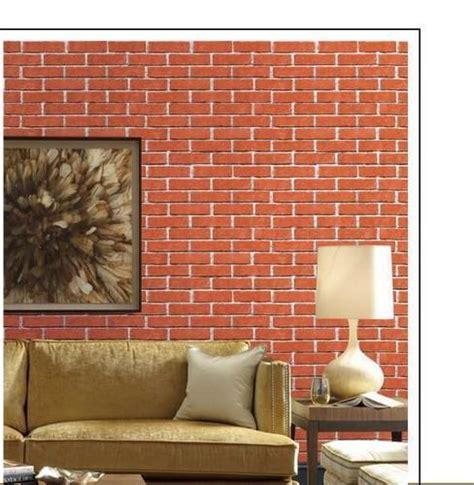 pvc modern  bricks wallpaper rs  square feet empire