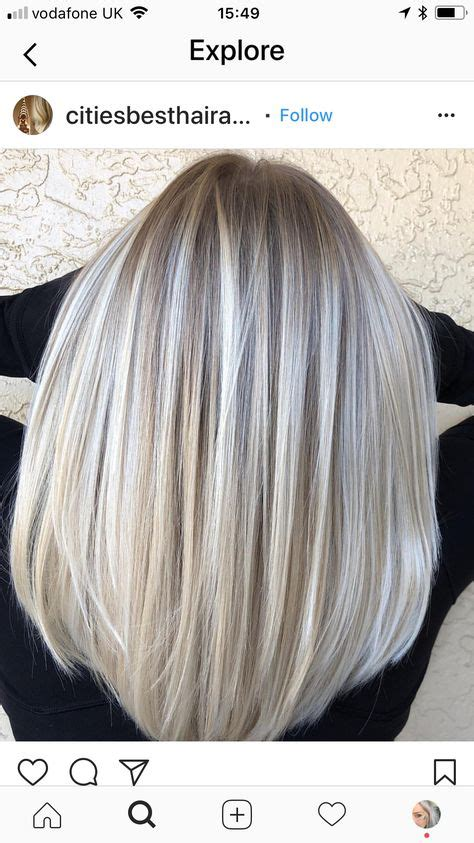 hair color blonde ash silver grey hairstyles  ideas
