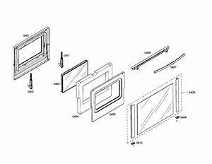 Door Diagram  U0026 Parts List For Model Hei7052u01 Bosch