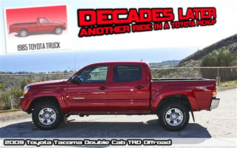 Decades Later Another Ride Bright Red Toyota Pickup
