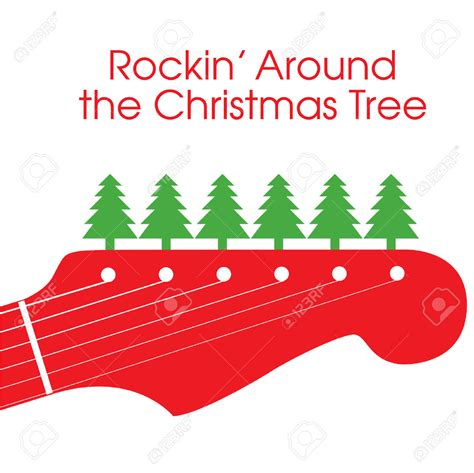 rockin around the christmas tree clipart clipartxtras