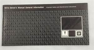 1973 Pontiac Nos Owner U0026 39 S Manual General Information