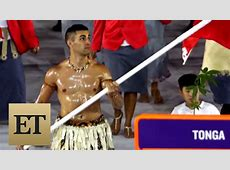 The Internet Loves Tonga's Shirtless Flag Bearer From the