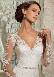 lace appliques on chiffon georgette wedding dress style With wedding dress accessories