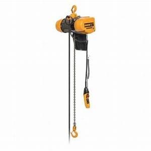 Harrington H4 Electric Chain Hoist  2 000 Lb Load Capacity