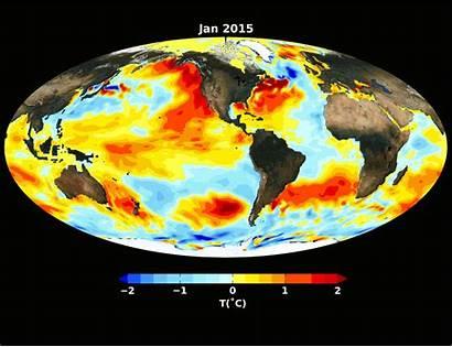 El Ocean Nasa Pacific Nino Strong Temperatures