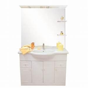 Meuble Salle De Bain Complet : majorca salle de bain compl te simple vasque 110cm blanc ~ Dailycaller-alerts.com Idées de Décoration