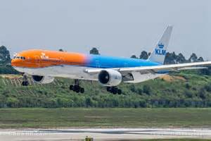 exclusive interior design for home photos klm debuts orange themed boeing 777 300er on