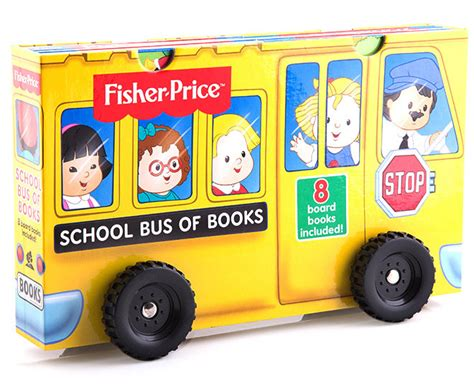 Fisher-price School Bus Of Books 8-book Library