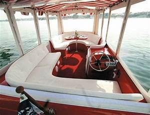 Duffy cat 16 electric pontoon boat the green pontoon for Interior decorating ideas for boats