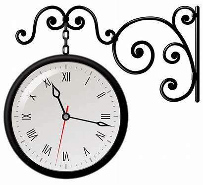 Clock Clipart Clip Street Clocks Different Analog