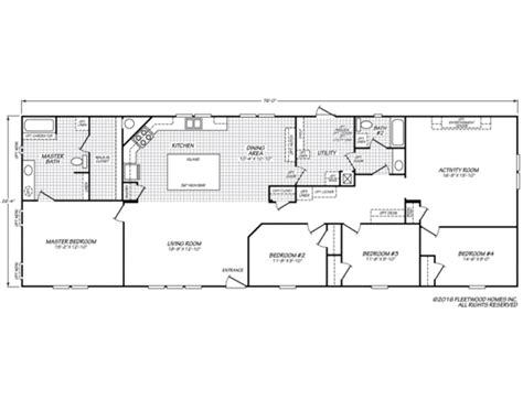 Fleetwood Mobile Homes Floor Plans 1997 by Westfield Classic 28764t Fleetwood Homes