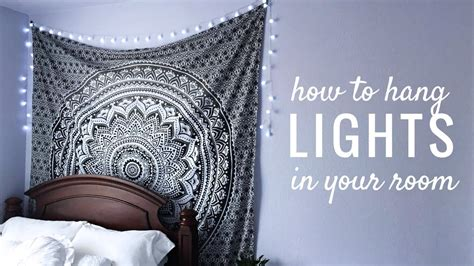 lights to hang in your room how to hang string lights in your room easy