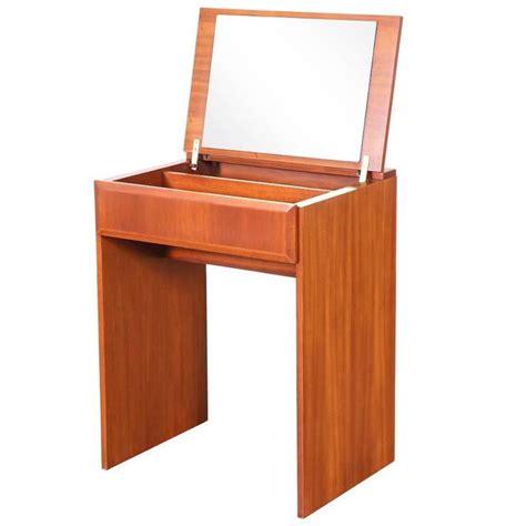 flip top vanity desk danish modern flip top teak dressing or vanity table for