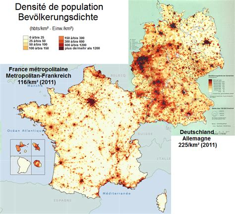 Carte Densité Population 2017 by Allemagne Densit 233 De Population 2011