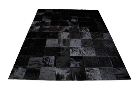 Patchwork Cowhide Rug Ikea by Patchwork Cowhide Rug In Classic Black Squares Shine Rugs