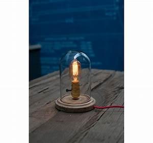 Lampe Style Industriel : lampe poser globe verre pour ampoule a filament edison ~ Teatrodelosmanantiales.com Idées de Décoration