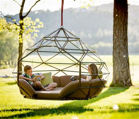 Hanging Hammock by The Kodama Is A Hanging Outdoor Lounger That Fits 4