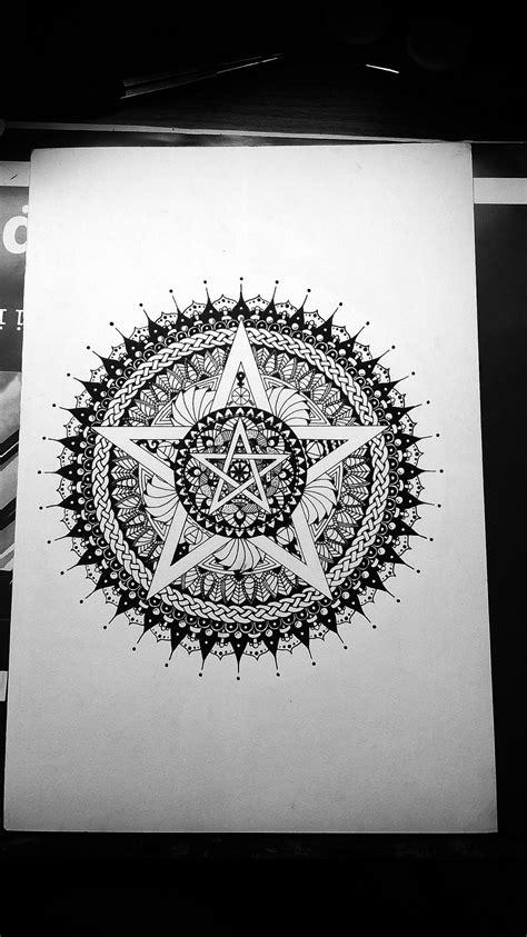 Pentacle mandala for protection #mandala | My Mandalas | Pinterest | Pentacle, Mandala and Tattoo