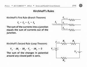 MCAT Physics Flashcard - Kirchhoff's rules - the branch ...