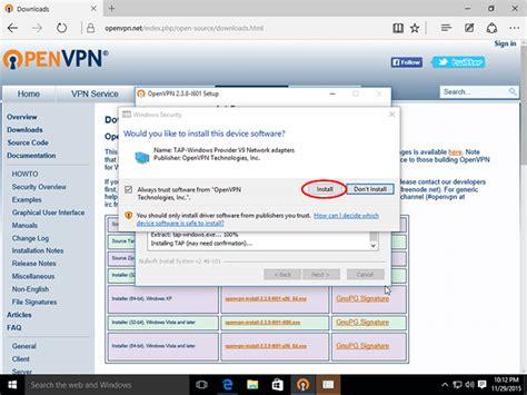 how to set up openvpn on windows 10