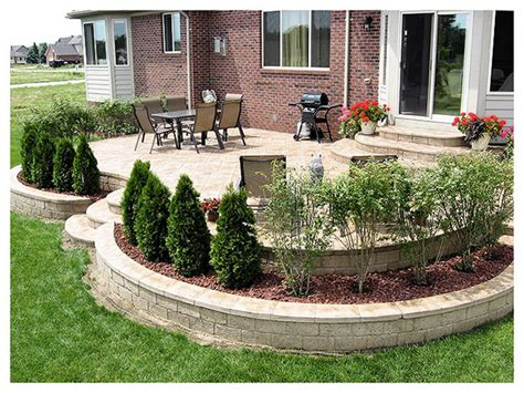 concrete patio landscaping ideas new front door area on pinterest front doors tall planters and front door awning