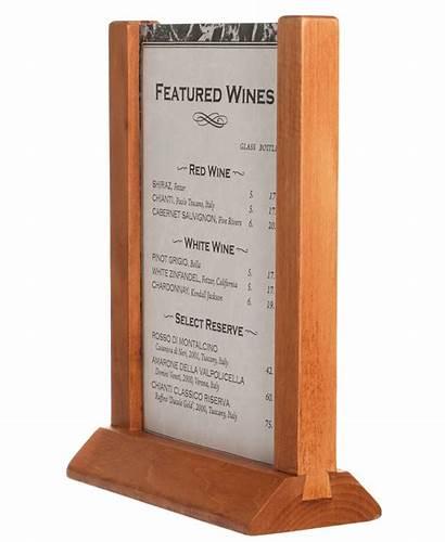 Menu Holders Card Wooden Frame Table Restaurant