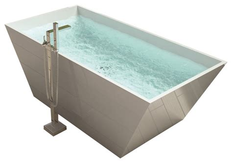 stand alone bathtubs adm white stand alone solid surface resin bathtub