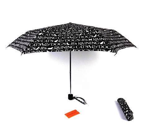 Raining Cats And Dogs Foldaway Umbrella By Emma