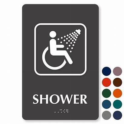 Shower Ada Signs Symbol Restroom Bathroom Sign
