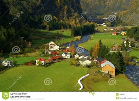 Flam Valley Norway Stock Image Image Of Water Baltic