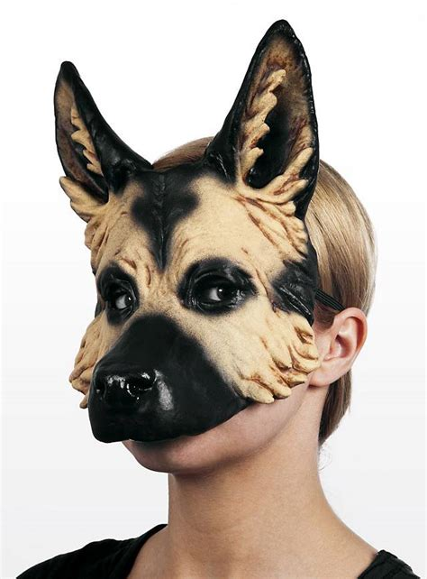 german shepherd latex  mask maskworldcom