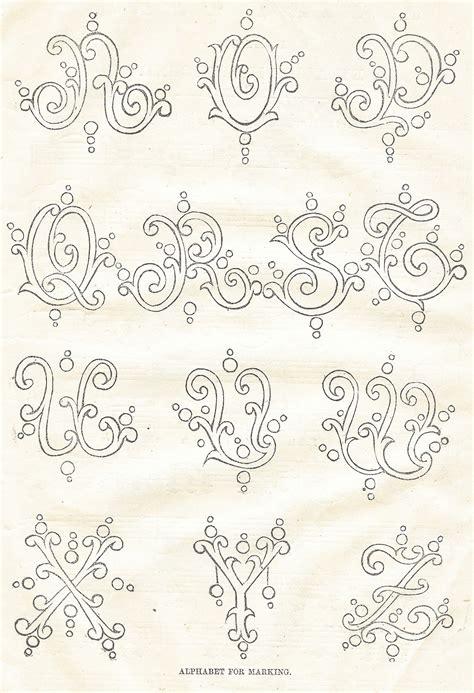antique graphics wednesday   antique alphabet fonts knick  time