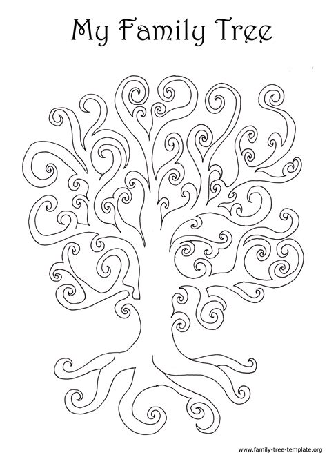 Family Tree Template For Pages by Family Tree Coloring Page 29028 Bestofcoloring