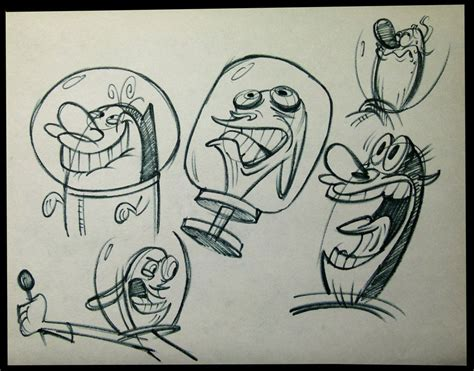 ren and stimpy more expression mermaid sketch